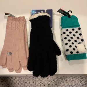 NWT 3 pairs of gloves